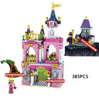 Classique fée conte scènes Beauté château building block Sommeil princesse Sorcière chiffres briques jouets pour filles cadeaux