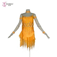 Excellent Tailor-Made Fringe Sumba Dancing Dress Yellow L-1153