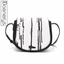 Daenerys Designer Brand Bags Women Leather Handbag Ladies Purse Shoulder Bag Saddle Clutch Crossbody Bags Black стоимость