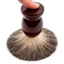 Человек Чистый Барсук Волос Помазок 100% Первоначально для Double Edge Безопасности Прямой Классический Бритвенный станок 9.9 см х 4.6 см(China (Mainland))