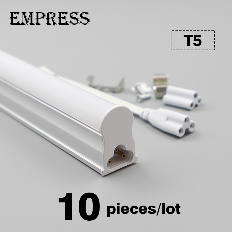 10 pièces LED Tube T5 Lampada intégré ampoule 60 cm 10 W 220 V lumière fluorescente applique murale blanc froid chaud blanc éclairage intérieur