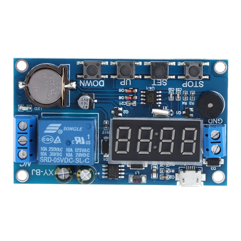 Multifunction Cycle Delay Timer Relay Module for timing and counting