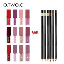 O.TWO.O Buy 3 get 1 Gift 3Set Make Up Lip gross Different Effect Matte Liquid Lip gross+Eye pencil