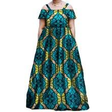 Женское длинное платье с вощеным принтом в африканском стиле