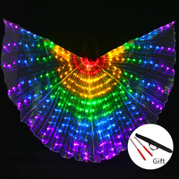 Stage Performance Props Women Dance Accessory DJ LED Dance Wings Light Up Wing Costume LED Dance