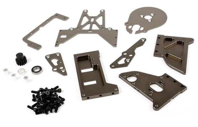 Gas Baja change to Conversion Motor Mount Bracket Kit for KingMotor Rovan HPI Baja 5B 5T SS Eletric Brushless Conversion Kits new king motor jaguar brushless motor esc mounting kit for hpi baja 5b 5t rovan