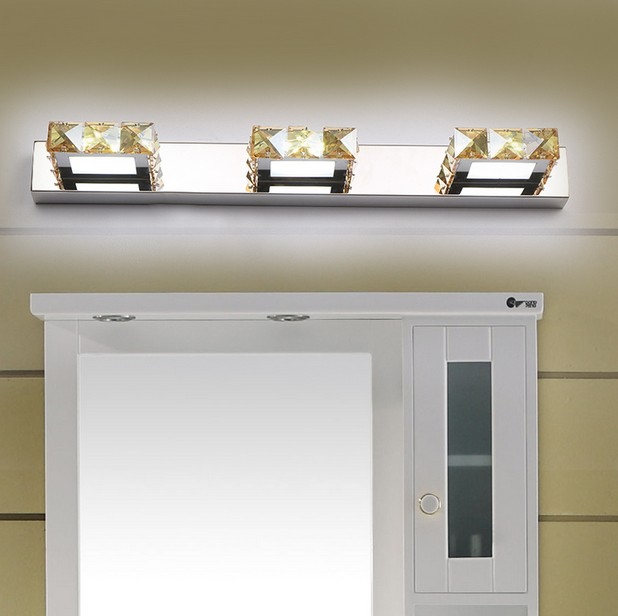 Simple Modern Crystal Wall Sconce Sconce Bathroom Wall Lamp Led Mirror Mirror Light