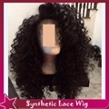 "Kinky Curly Full Hair Lace Hair Wigs For Black Women Glueless Lace Front Wigs 100%Fiber Heat Resistant Free Part150%24"" Stock"