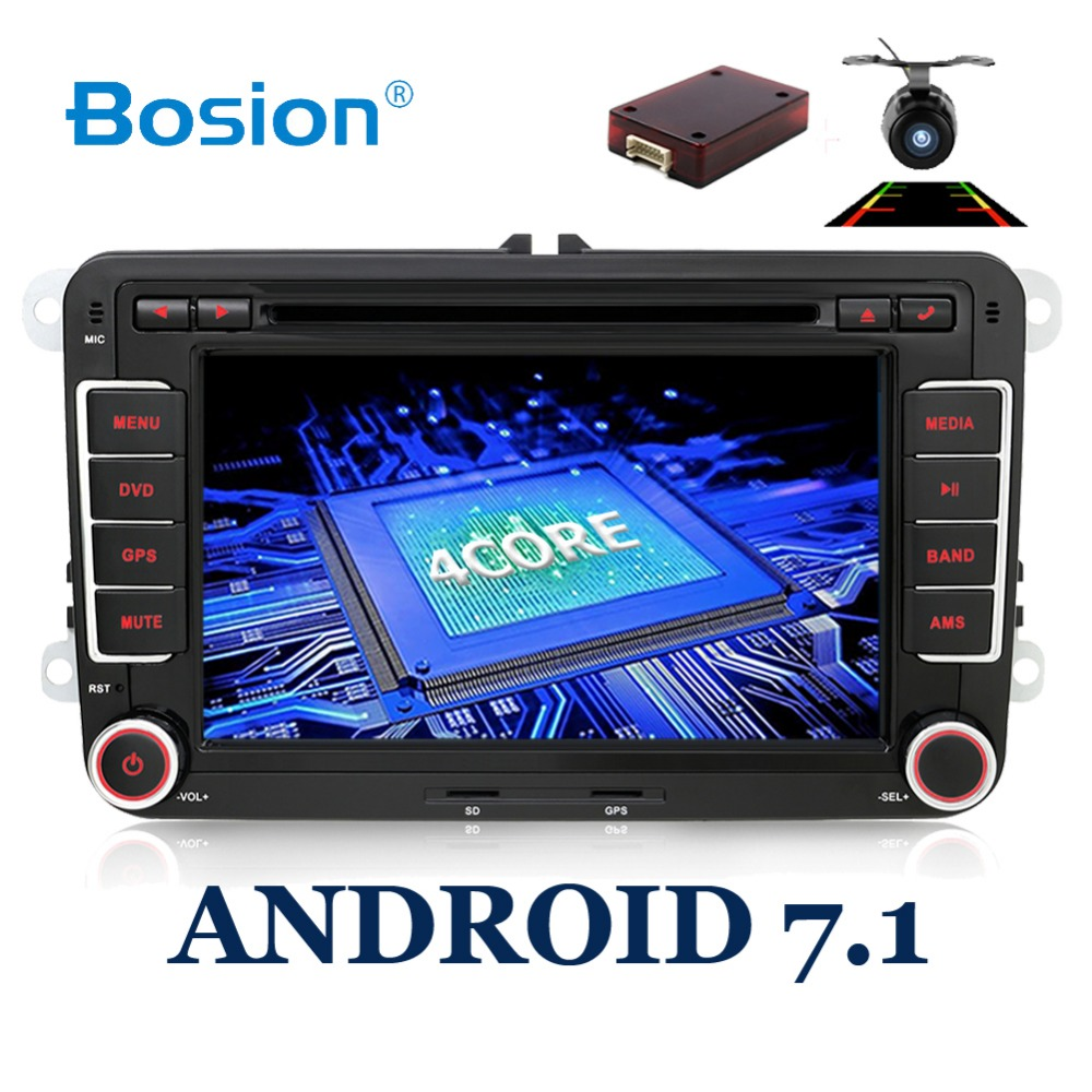 2Din Android 7 1 Car Audio Car DVD Player GPS Radio For VW GOLF 6 Polo