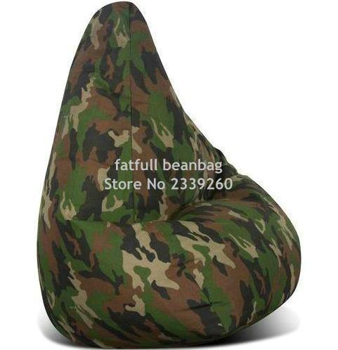 Cover Only No Filler Camouflage Bean Bag Chair, Bean Bag Sofa Used  Furniture Living Room Sofa Recliner In Living Room Sofas From Furniture On  Aliexpress.com ...