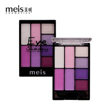 MEIS brand Professional Eye shadow 8 Colors Matte Eyeshadow Palette Natural Cosmetics Naked Makeup Shining Shadow with Brush