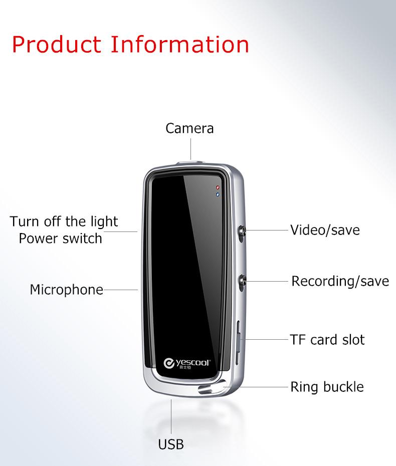 Yescool A30 mini cámara profesional HD 9