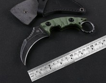 Sharp Tactical Survival Karambit knife D2 steel blade G10 handle Camping hunting Knife self defense military tool Free shipping