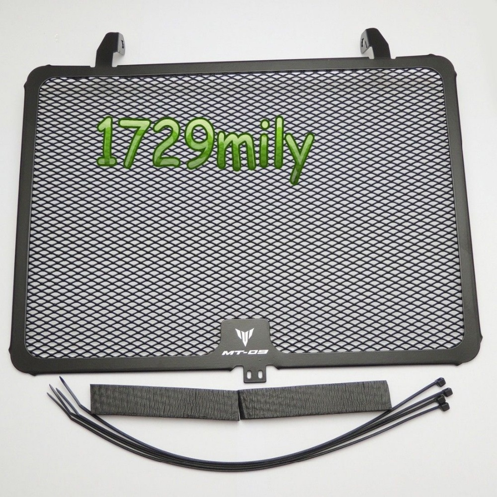 ФОТО Black Aluminum Radiator Guard Grill for YAMAHA MT09 FZ09 2013 2014 2015
