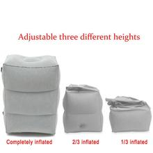 Foot-Rest Inflatable Foot Pad Three Layers Gray PVC Rest Airplane Office Outdoor Travel Air Pillow Home Train Mattress