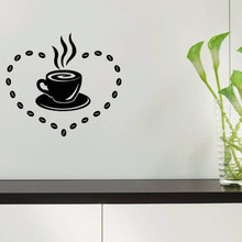 YOYOYU Vinyl Wall Decal Kitchen Cafe Hot Drinks Small Object Decoration Papel De Parede Para Quarto  Stickers FD250 цена и фото