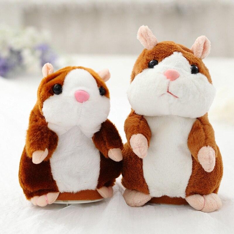Hot Falar Sound Record Hamster de Estimação Eletrônico Brinquedo de Pelúcia Bonito Hamster Brinquedo Educativo para As Crianças do Presente de Aniversário para o Menino e menina