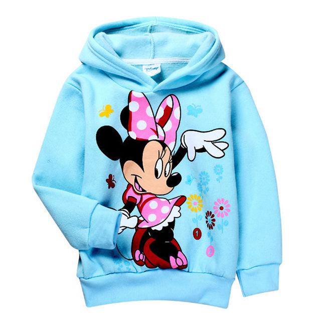 2016 nova primavera outono minnie meninas dos desenhos animados hoodies manga comprida t-shirt do bebê menino casual clothing unisex da camisola das crianças