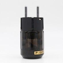 2 pcs Oyaide P-004E Ródio palted UE AC plug power para DIY cabo de alimentação de áudio