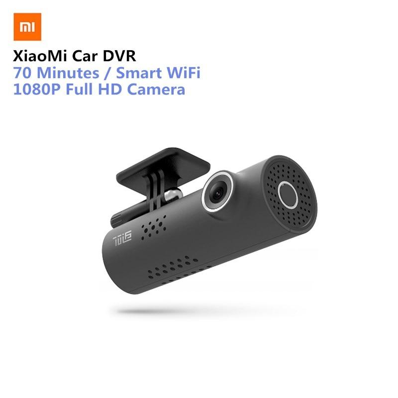 Versión inglesa Xiaomi 70 minutos 1080 p Cámara Full HD Smart WiFi cámara de coche Mstar 8328 P Sony IMX323 1080 p 30fps para coche
