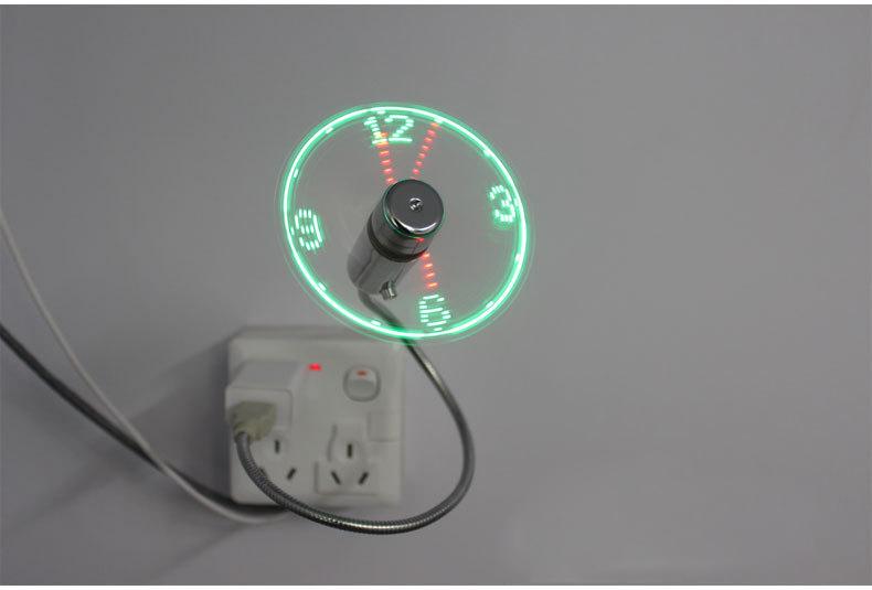 MINI Flexible LED USB Clock Fan Watch 8
