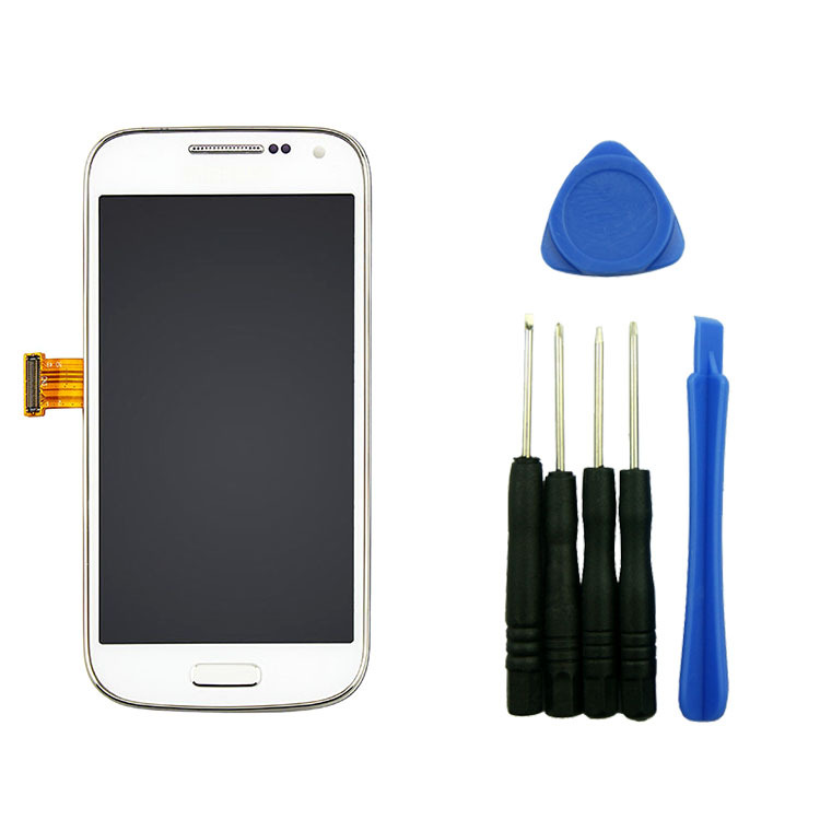 White LCD Display Screen+Digitizer Assembly+Frame For Samsung Galaxy S4 IV Mini i9190 i9195 with tools