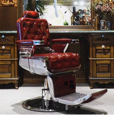 New Vintage Hair Salon Chair High-end Hair Salon VIP Hair Chair Continental Chair Hairdressing Chair. hair salon barber chair hairdressing chair put down the barber chair