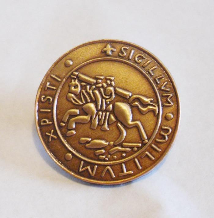 KOSTENLOSER VERSAND 1 STÜCK 22MM Ritter Templer Siegel Kreuzfahrer - Kunst, Handwerk und Nähen