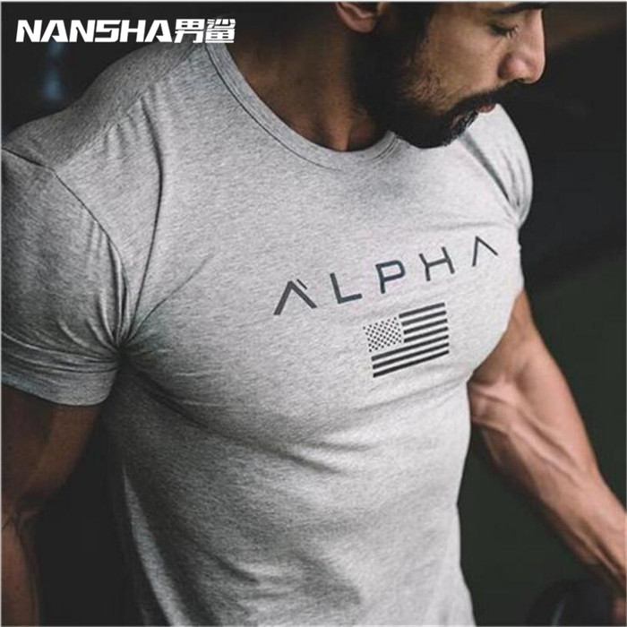 Online Shop Men Fitness Clothes Bodybuilding T Shirts Gasp Short Sleeve  Workout T-Shirt Muscle Shirts Tshirts Mens Top Tees  93354bcded0a3