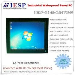 19 بوصة IP65 لوح مضاد للماء PC ، النواة i3-3217U وحدة المعالجة المركزية ، 4 GB DDR3 ، 500 GB SSD ، 19 بوصة لوح مضاد للماء pc ، OEM/ODM