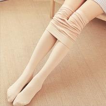 Pants Stocking Trousers Women Winter Stretch Bottoming Thin Fleece Leisure Autumn Warm