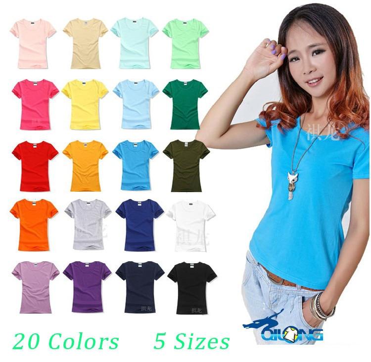HTB1OFotHpXXXXc.XpXXq6xXFXXXN - New Women Summer Casual Cotton Short Sleeve t-shirt O-neck Clothing