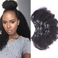 Клип В Фигурные Наращивания Волос Афроамериканца Клип В Наращивание Волос Малайзии Афро Кудрявый Вьющиеся Клип В Расширениях Человеческих Волос