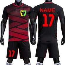 916cd730ba2 2018 custom Kids Adult Soccer Jersey Set survetement Football Kit Men child  Futbol Training Uniforms set