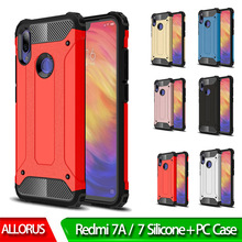 Silicone Back Phone Case redmi 7A 7 Armor Shockproof 360 Full Protective Cover For xiaomi Anti-knock Fitted