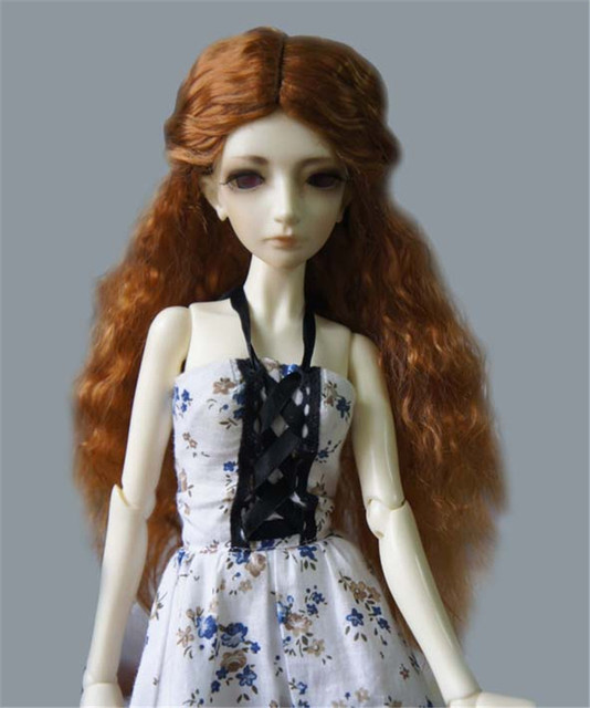 The Princess Wave Wigs for BJD Dolls Fashionable Synthetic Mohair Long Doll Hair High Quality Doll Accessories Hot Sale 076