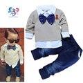 Crianças Meninos Conjunto de Roupas Boutique de Moda Gravata borboleta Criança Outfits Meninos Gap Roupa Do Bebê Meninos Ternos Conjuntos Formais Cavalheiro