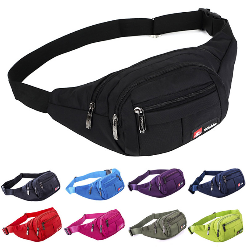 New Casual Multi-Pocket Wasit Bag Adjustable Strap Zipper Phone Pouch Chest Bags For Outdoor Running Climbing 88 LXX9