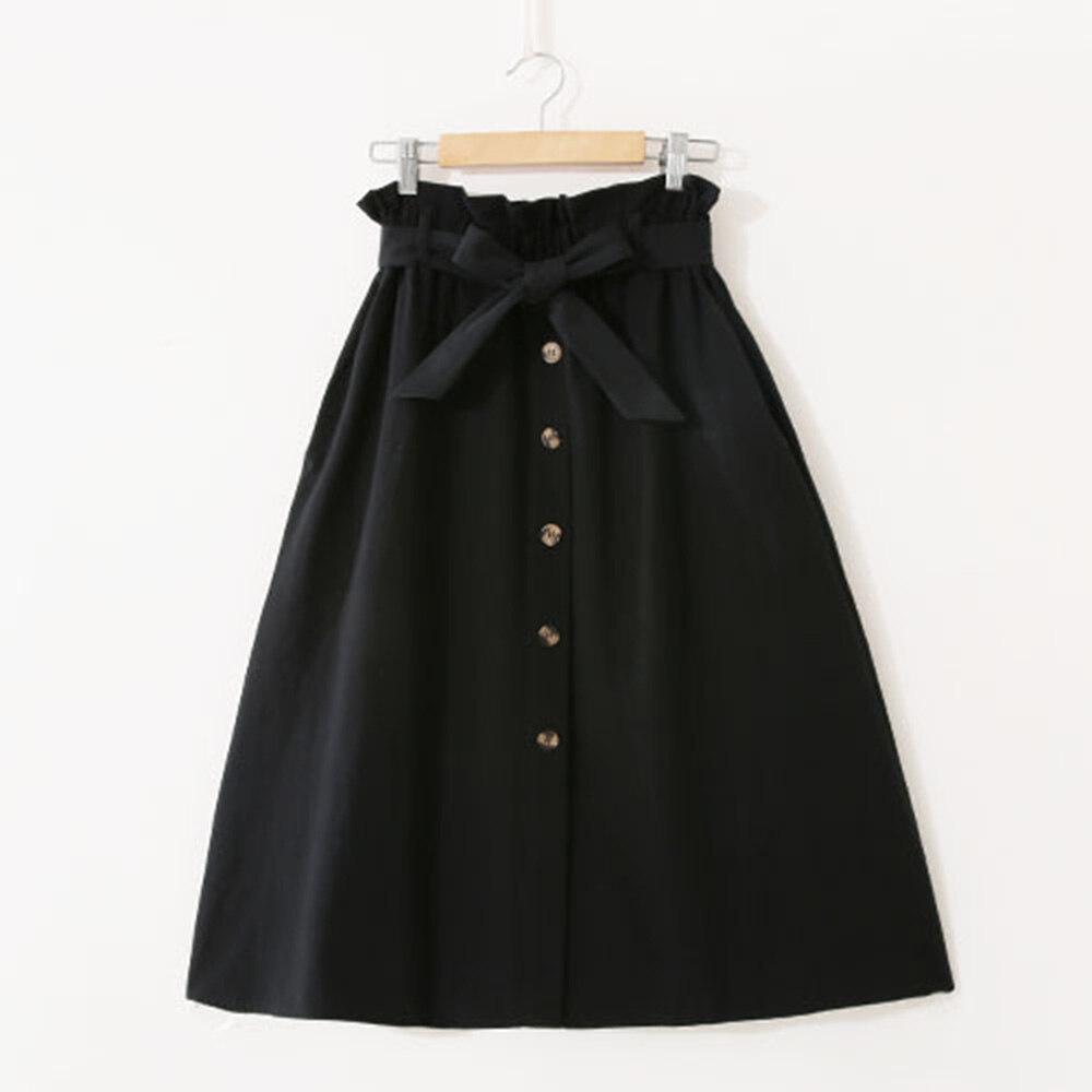 b9239f385 Falda de chica elegante Retro mujer verano A-Line cintura elástica plisada  Casual fiesta Skater ...