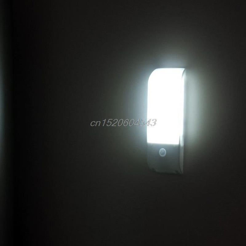 Bright 12 LED PIR Motion Sensor Light Cabinet Wardrobe Wall Lamp USB Charging R23 Drop s ...