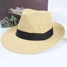 4 Colors Female Straw Jazz Hat Fashion Patchwork Cap Fedoras Casual Adult Womens Outdoor Mujer