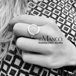 E-manco anneaux tendance en acier inoxydable pour femmes Vintage géométrique pinky anneau Dainty empilable rond midi anneaux bijoux