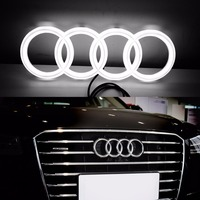 New 12V White Blanc Car Styling Led 4D Illuminated Car Led Grille Front Logo Emblem Lights