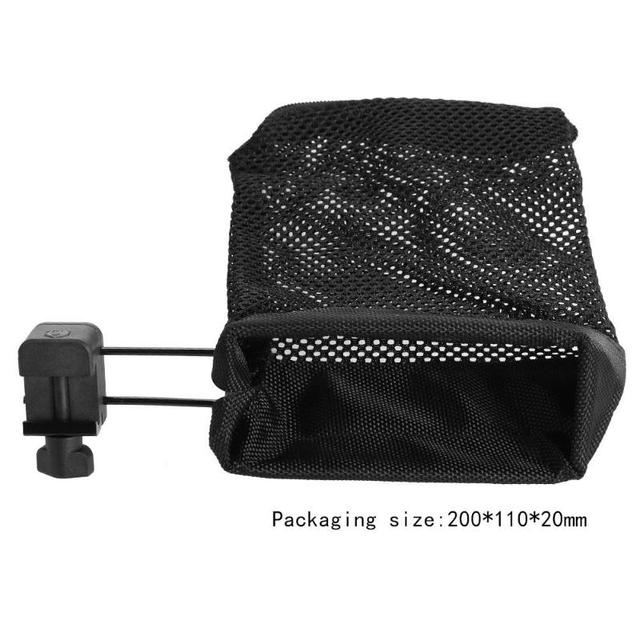 1PCS Ammo Brass Shell Catcher Nylon Capture Mesh Trap Bag Mesh Bag Capture Black 60 shell casings Hunting Accessories For AR-15