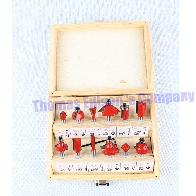 300W à 600W Aluminium housting outils électriques à bois tondeuse machine outils de menuiserie gravure avec 12 pièces ensembles de matrices - 2