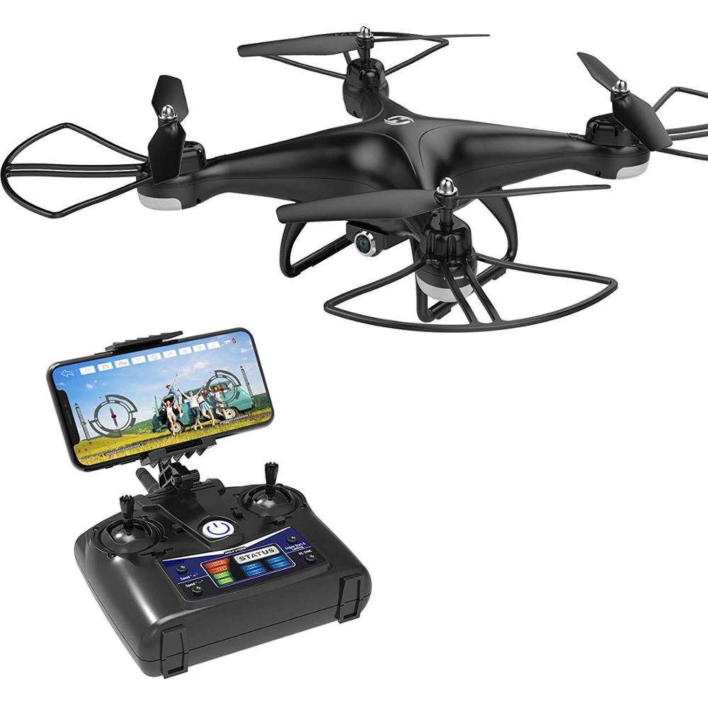Holy Stone 720P RC Drone Full HD Camera FPV 3D Flips RTF with 4G TF Card RC Helicopter WiFi APP Altitude Hold Quadcopter
