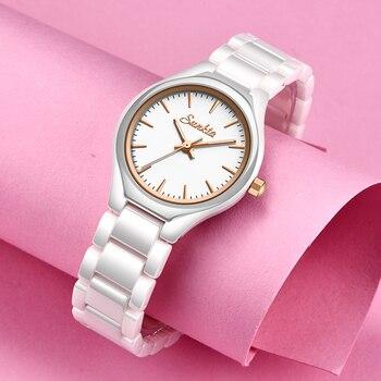 שעון עדין מקרמיקה קוורץ לאישה