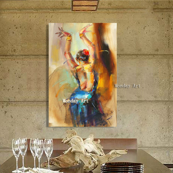 high quality Handpainted canvas painting poster art figure Picture wall art Picture portrait painting women picuture home decor