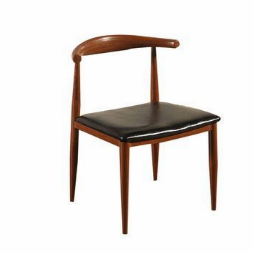 Купить с кэшбэком PU wood ivory cafe chair brown coffee chair black cafe chairs free shipping