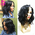 Short Bob Human Hair Full Lace Wig Virgin Human Hair Wavy Wig For Black Women Unprocessed Brazilian LaceFront Wig With Baby Hair